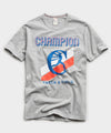 Champion Track And Field Graphic Tee in Grey Mix