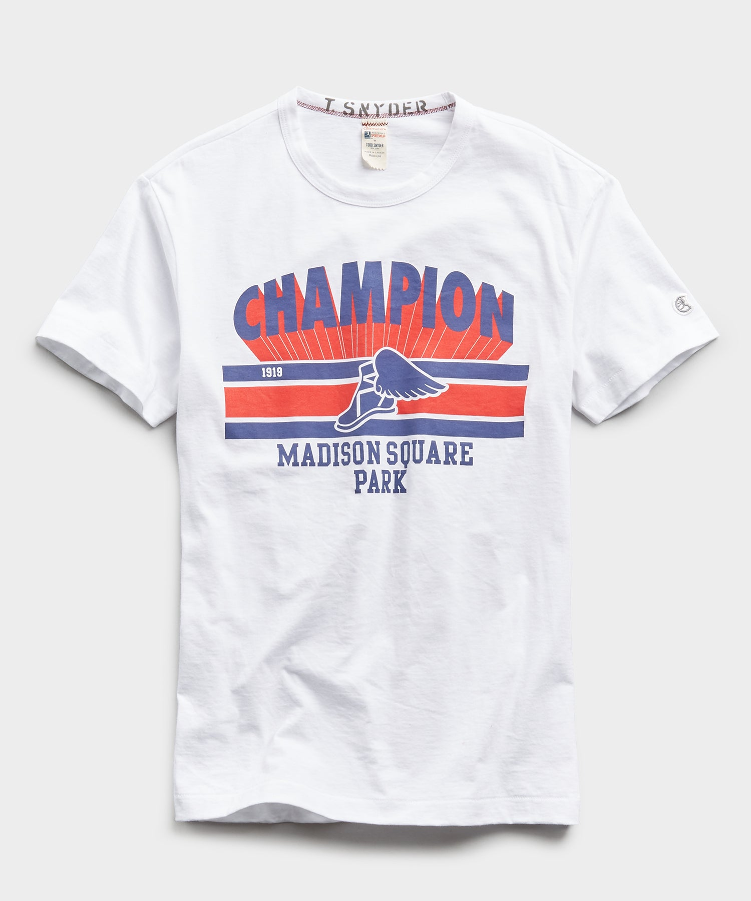 Champion 1919 Madison Square Park Tee in White
