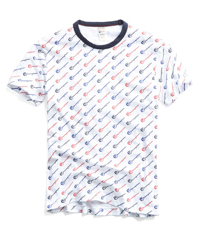 e3d53a31d21cff Champion All Over Graphic Tee in White WAS  70 NOW  49
