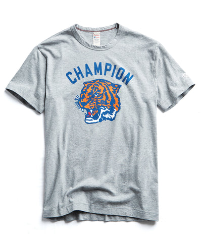 Tiger Graphic Tee in Light Grey Mix