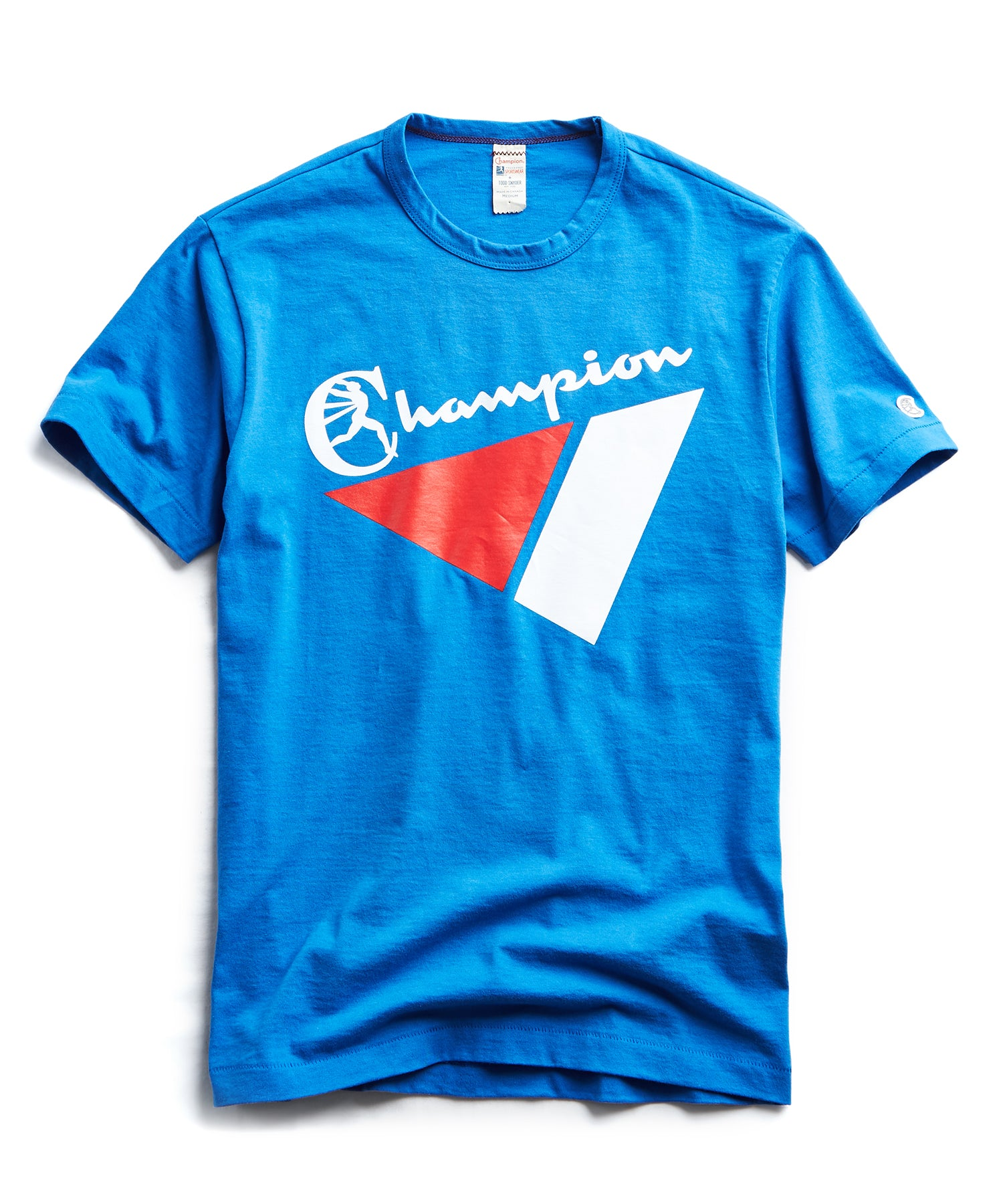 Triangle Graphic Tee in Regent Blue