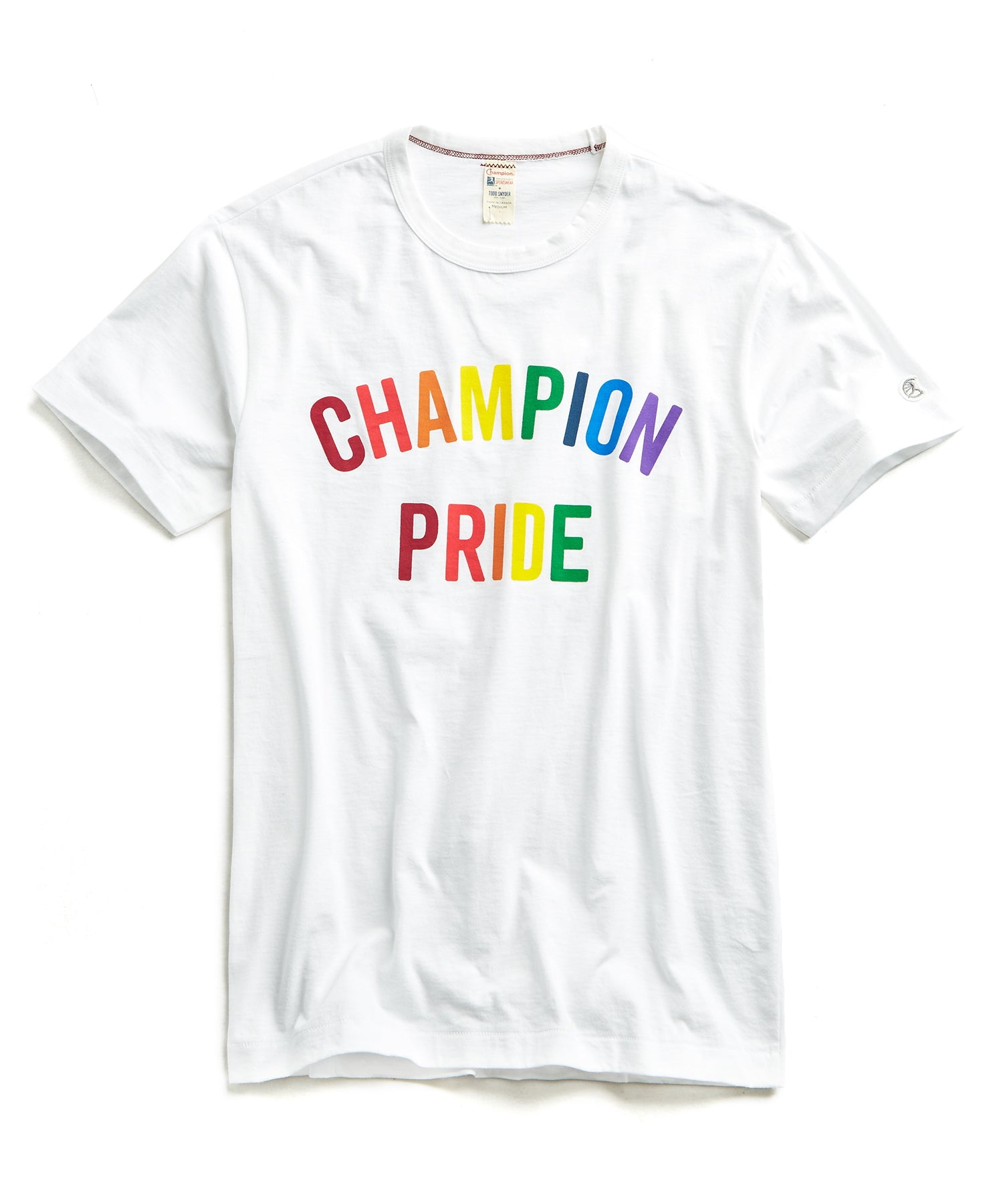 Champion Pride Arc Logo in White