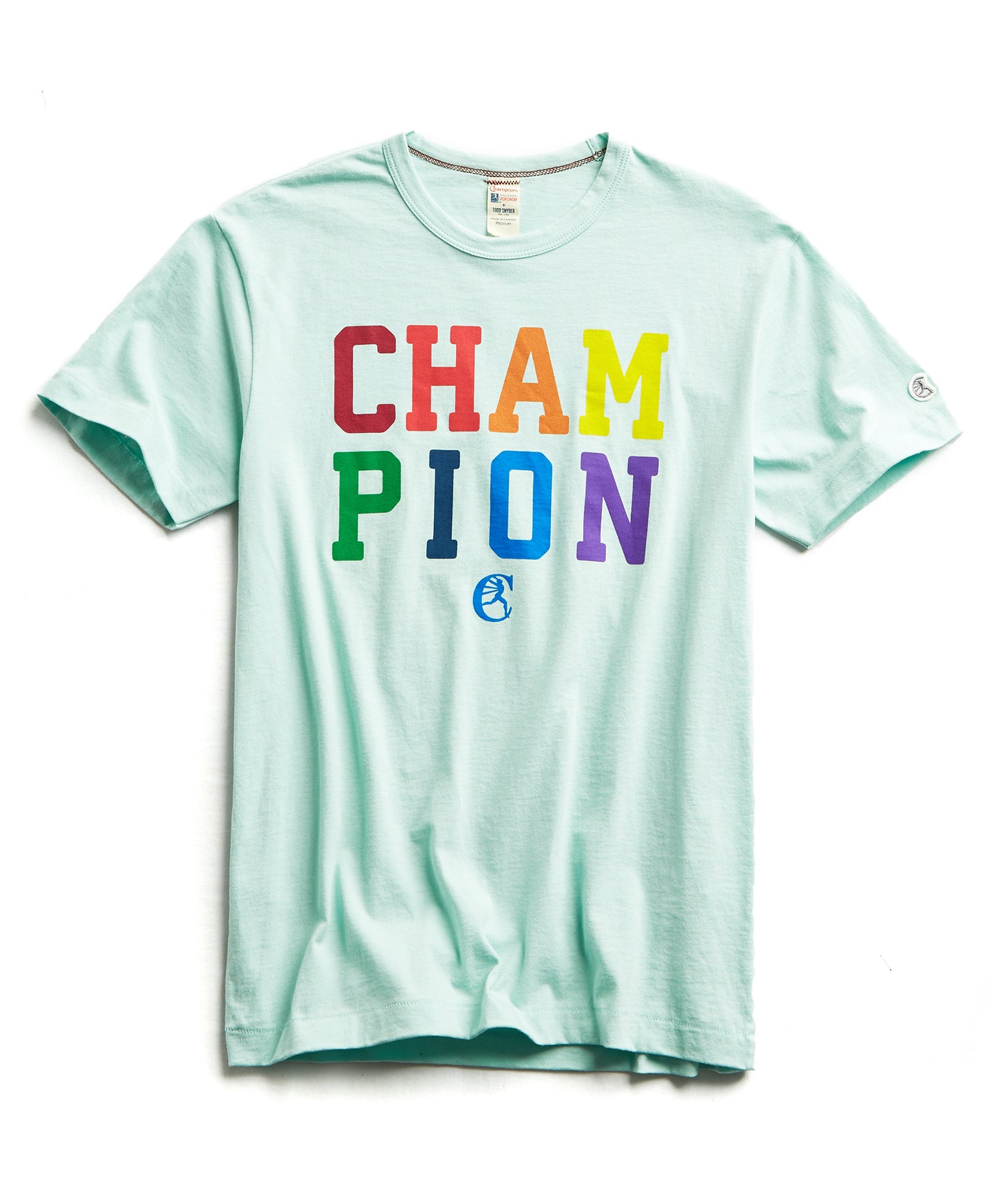 Champion Pride Graphic Tee in Minty Green