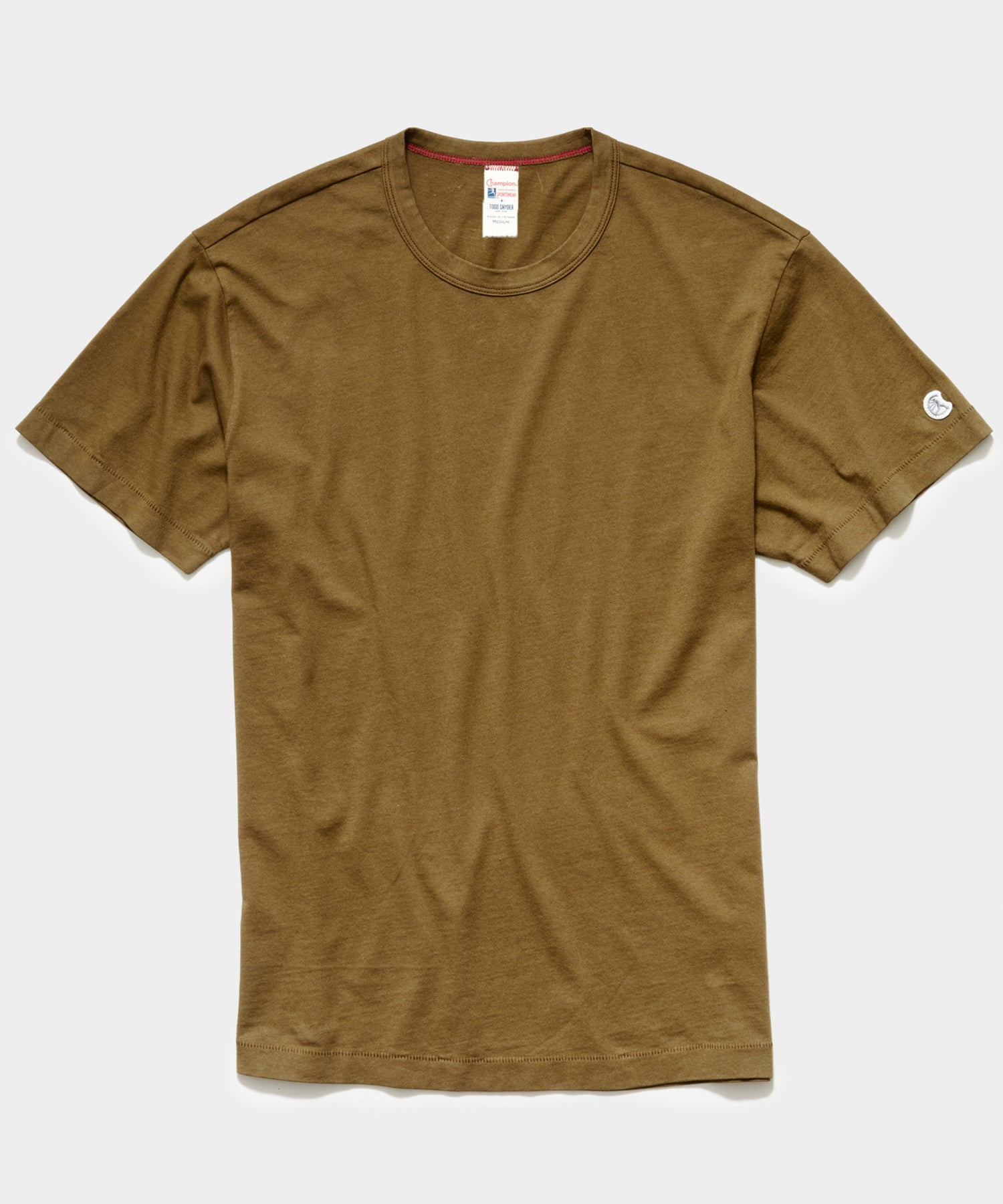 Champion Basic Jersey Tee in Mossy Brown