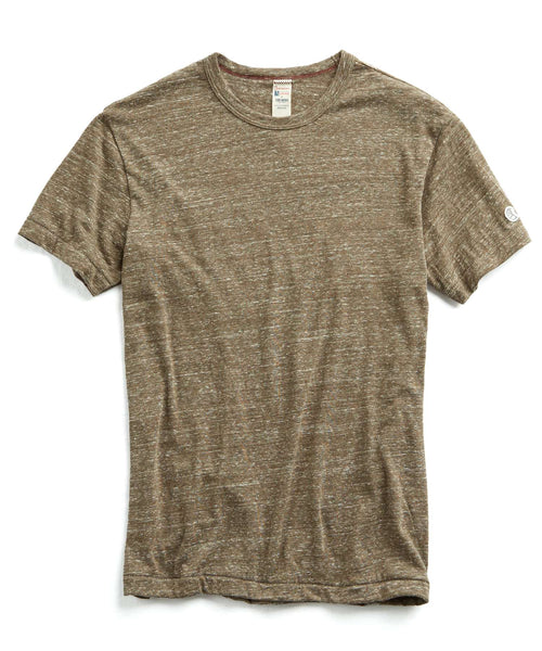 Japanese Snow Heather T-Shirt in Brown Mix