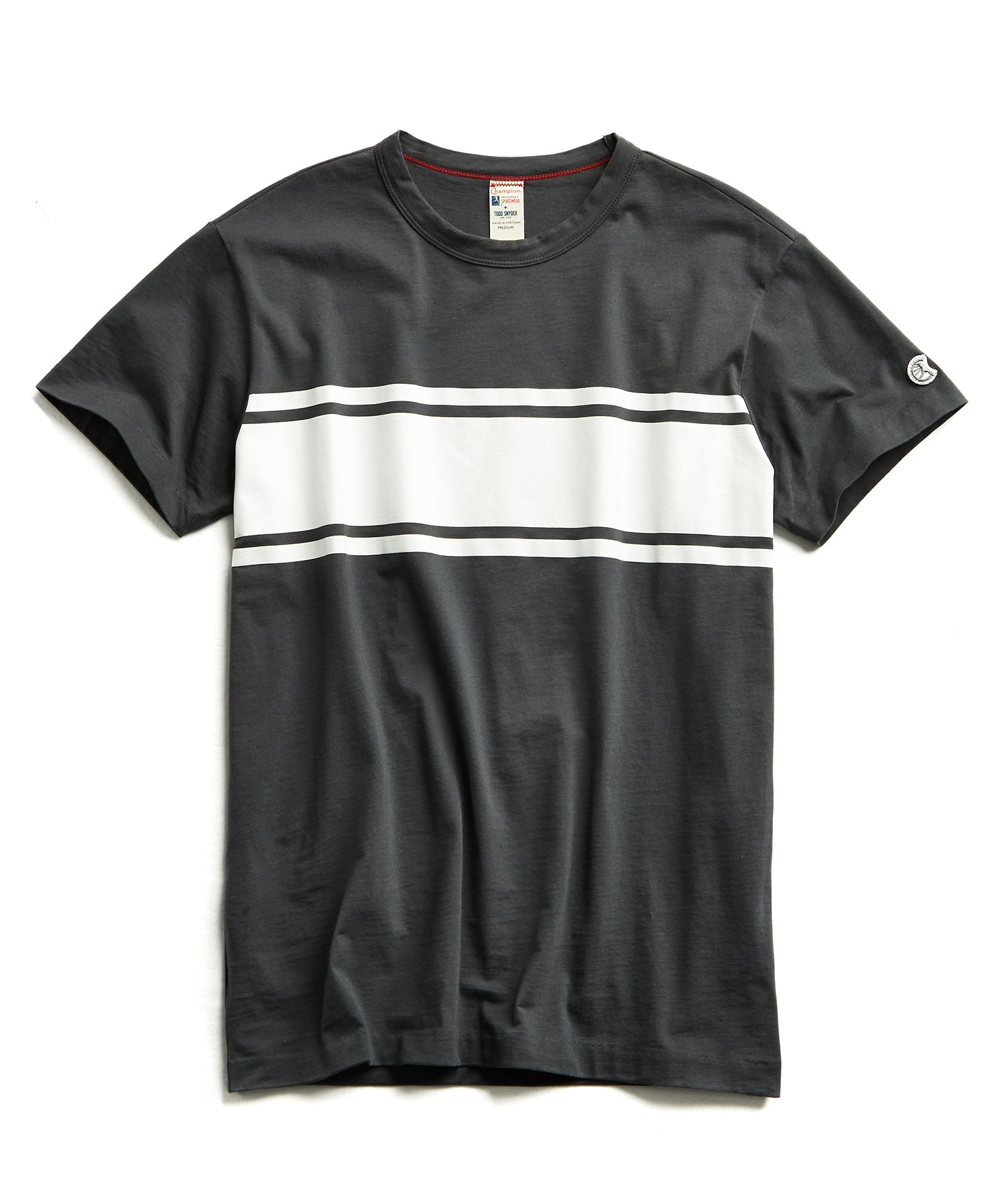Chest Stripe Tee in Black