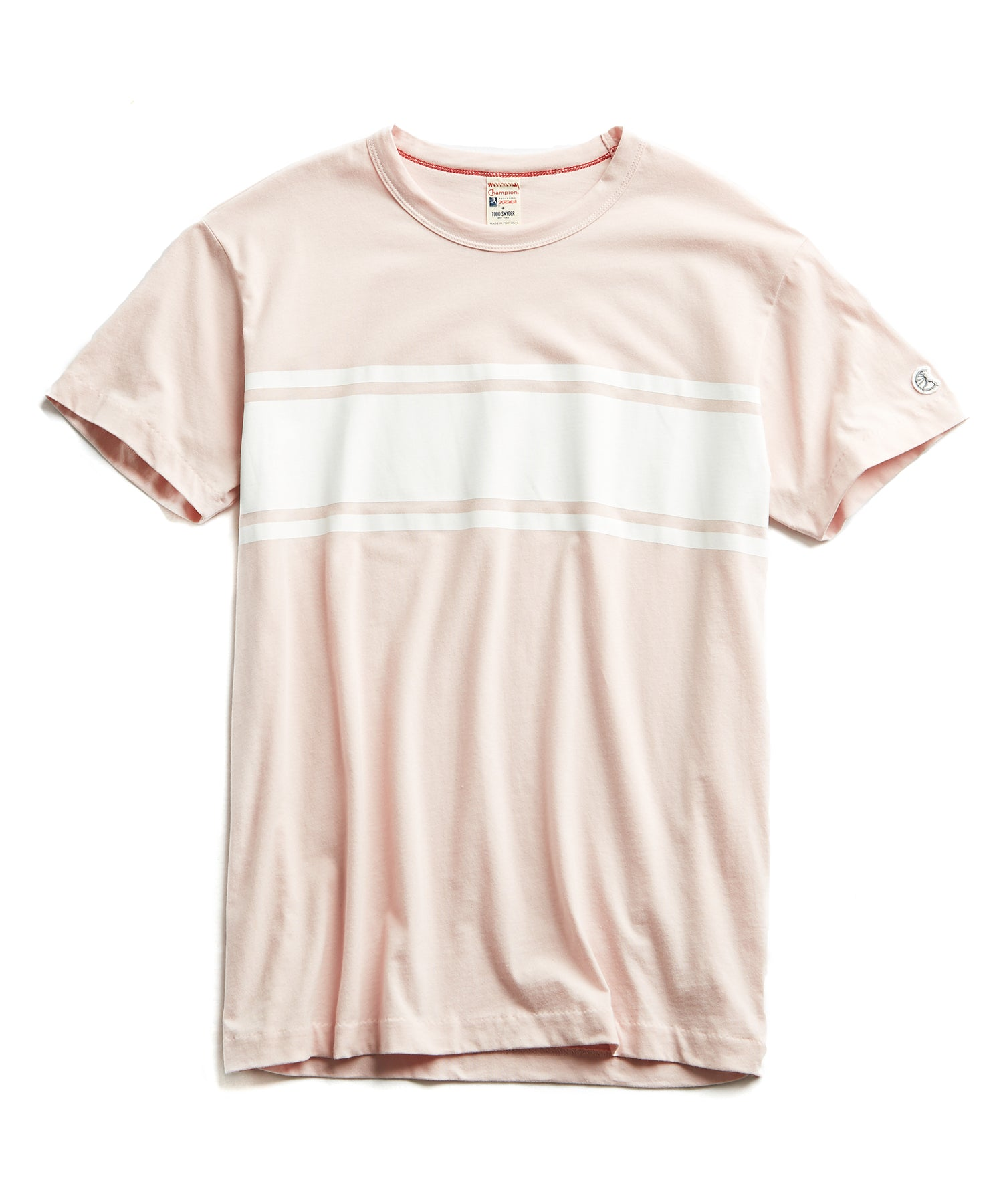 Chest Stripe Tee in Pink