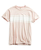 Chest Stripe Tee in Pink Alternate Image
