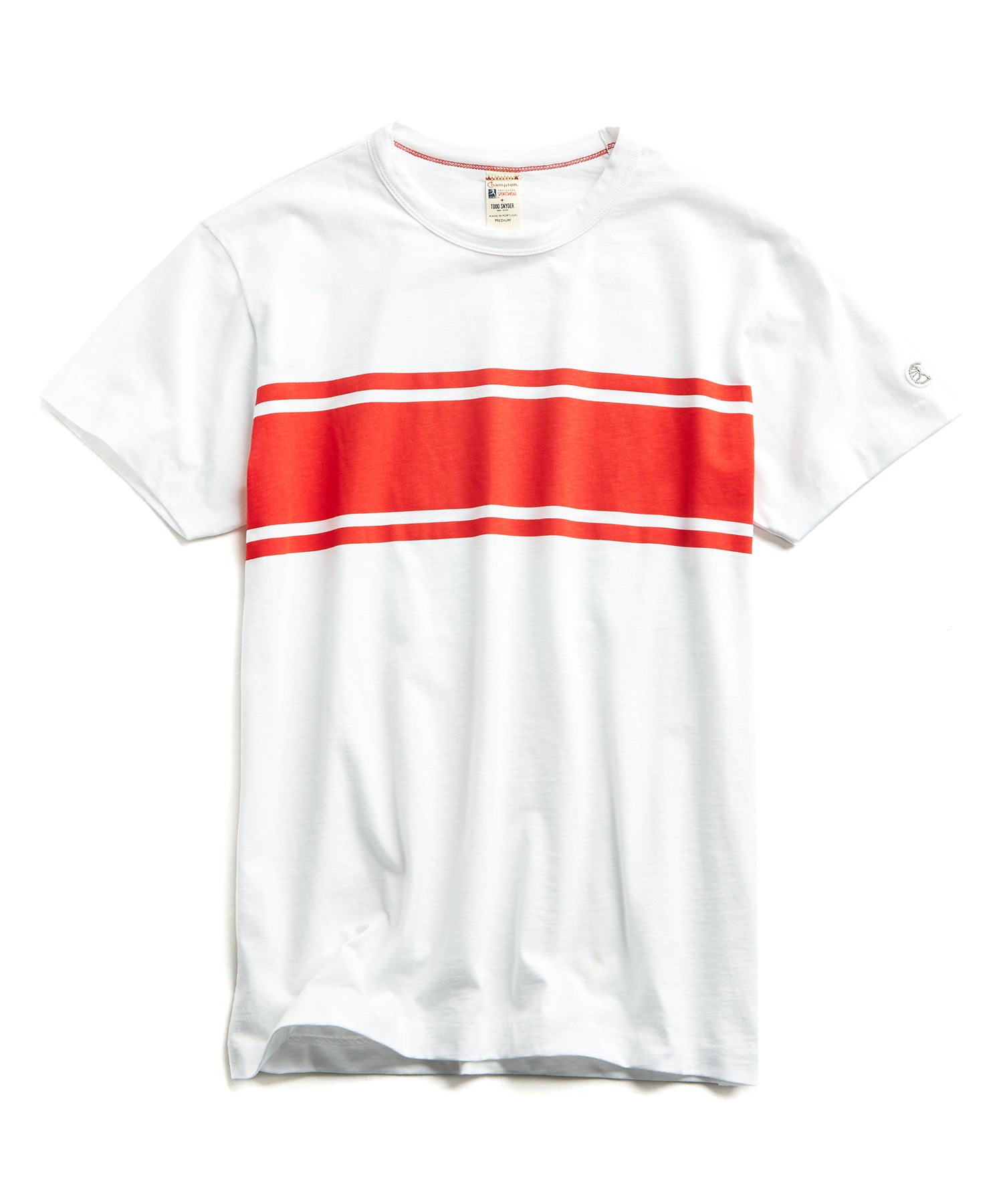 Chest Stripe Tee in White