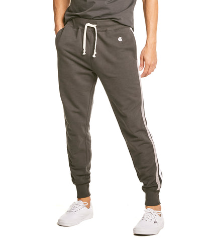 Stripe Sweatpant in Black