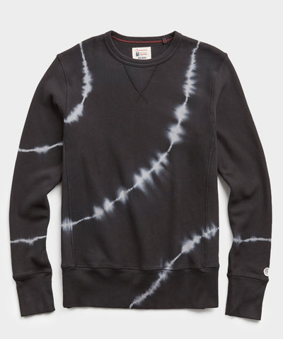 Terry Black Tie Dye Sweatshirt