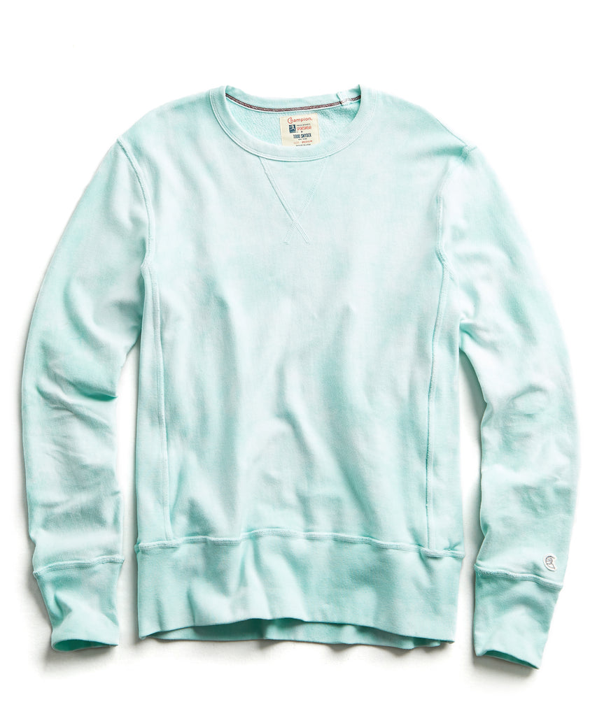 Champion Tie Dye Sweatshirt in Minty Green