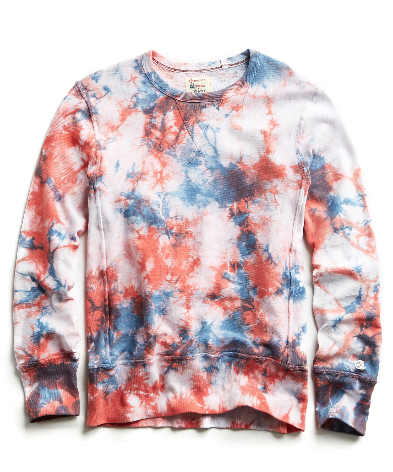 Champion Tie Dye Sweatshirt in Red