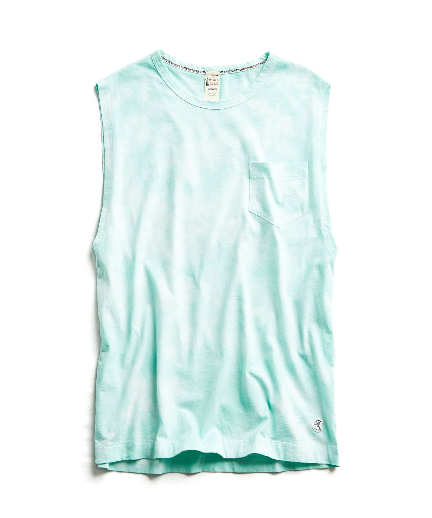 Tie Dye Muscle Tank in Minty Green