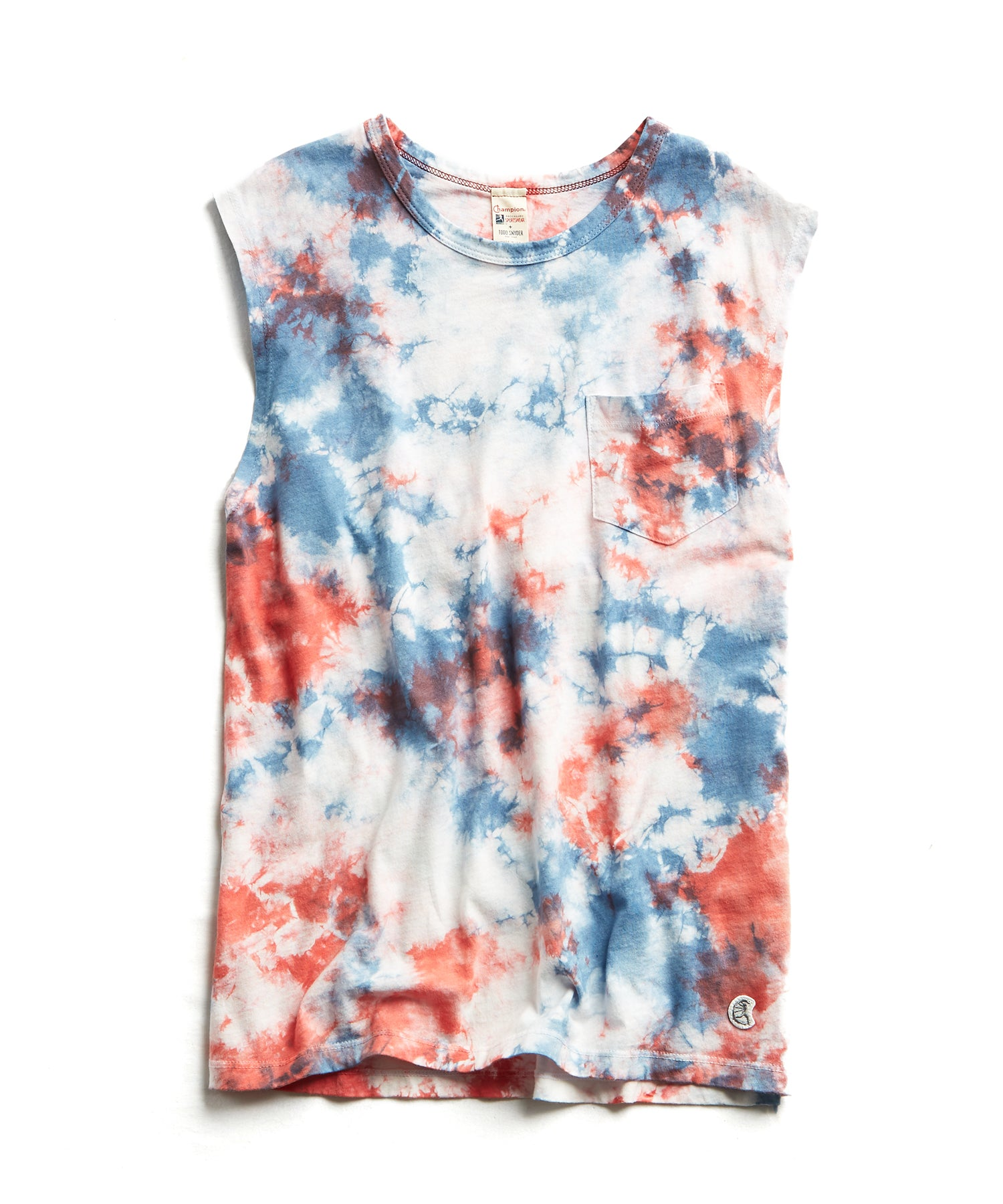 Tie Dye Muscle Tank in Red