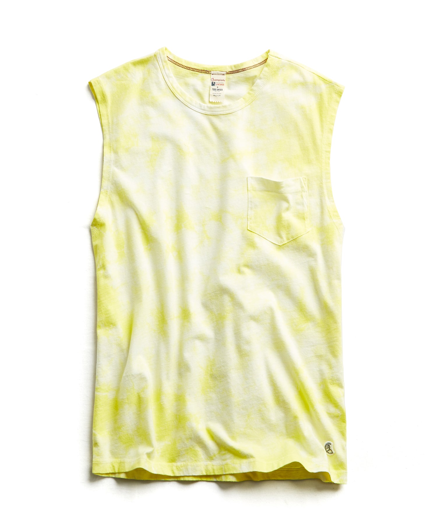 Tie Dye Muscle Tank in Fresh Lemon