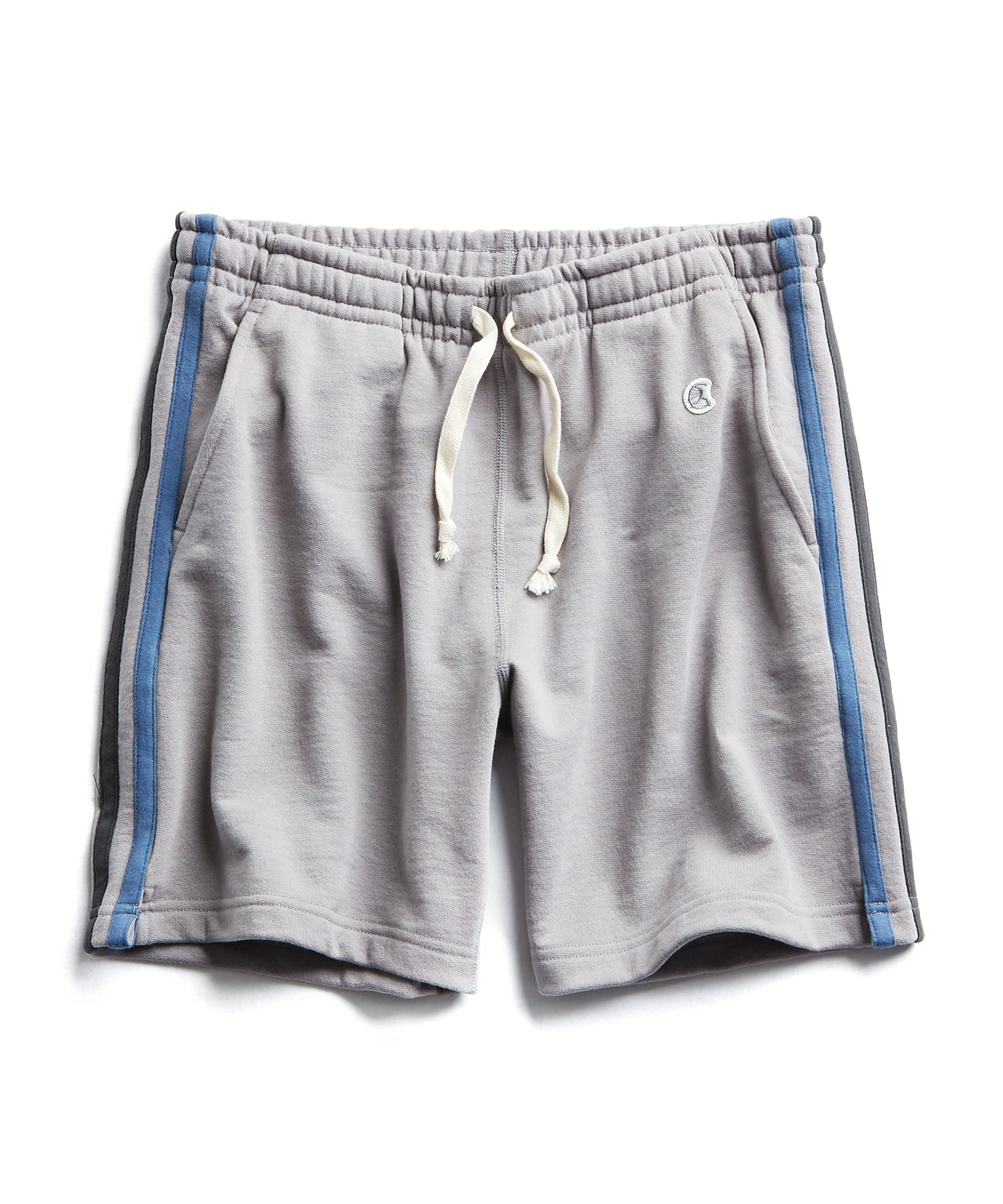 Stripe Warm Up Short in Grey