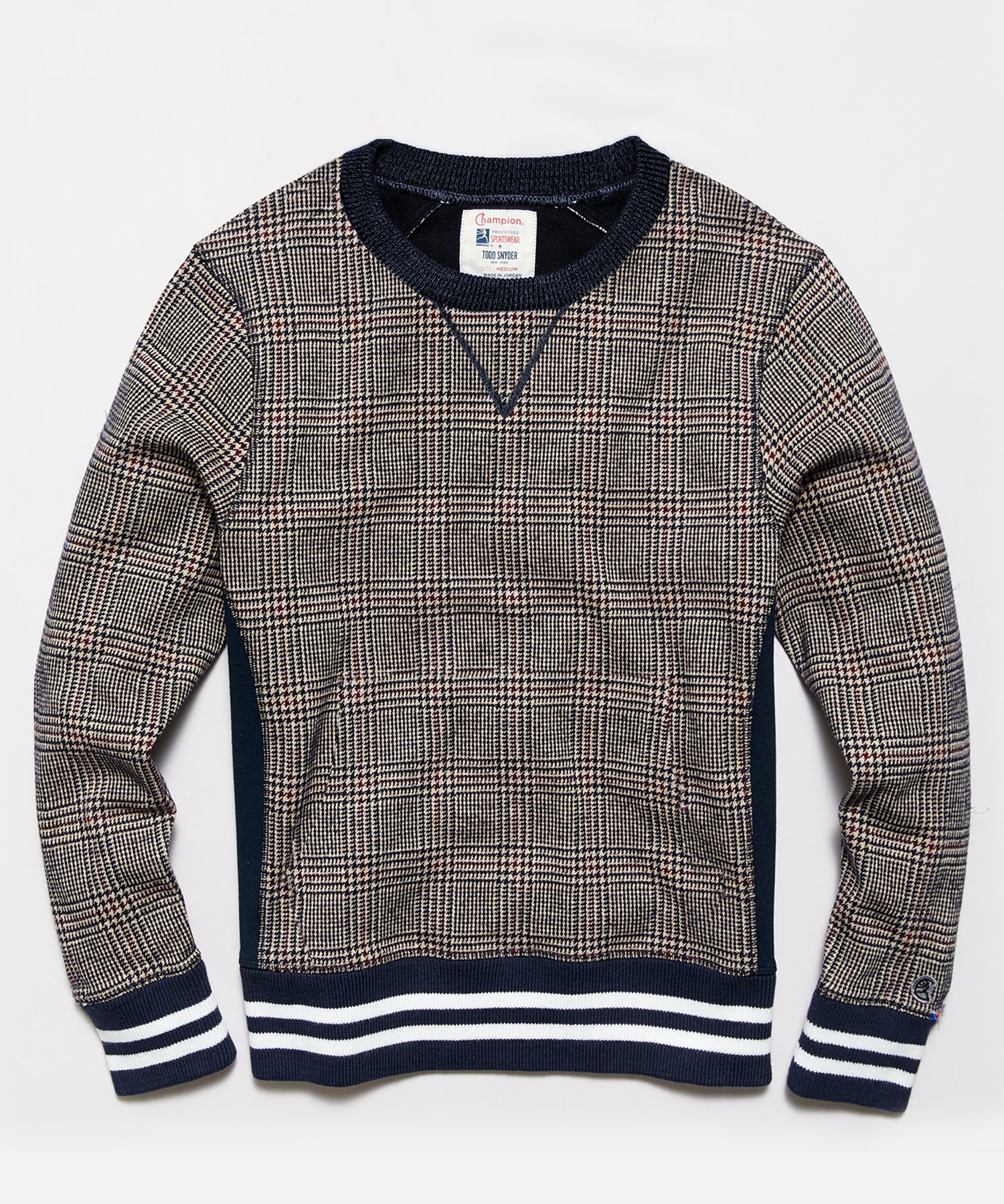 Glenplaid Wool Crew Sweatshirt