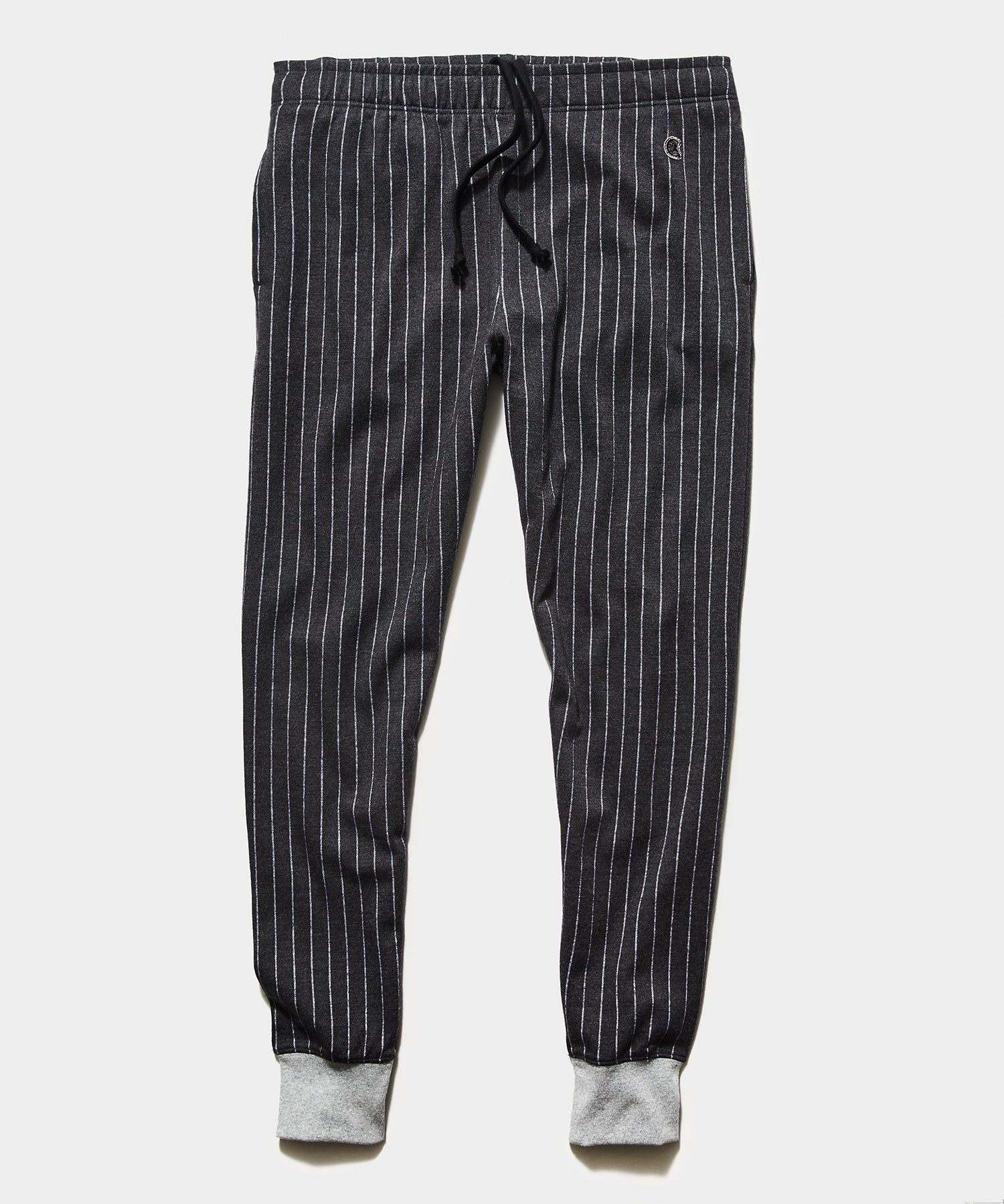 Champion Wool Pinstripe Jogger in Charcoal