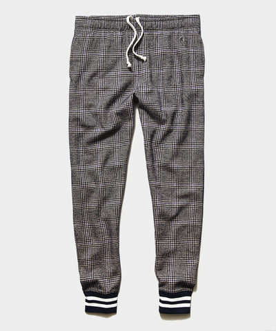 Champion Wool Glenplaid Jogger in Navy