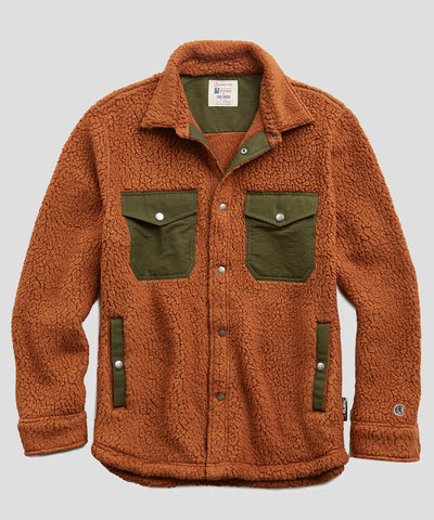 Polartec Shirt Jacket in Burnt Toffee