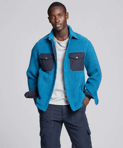 Polartec Shirt Jacket in Slate Teal
