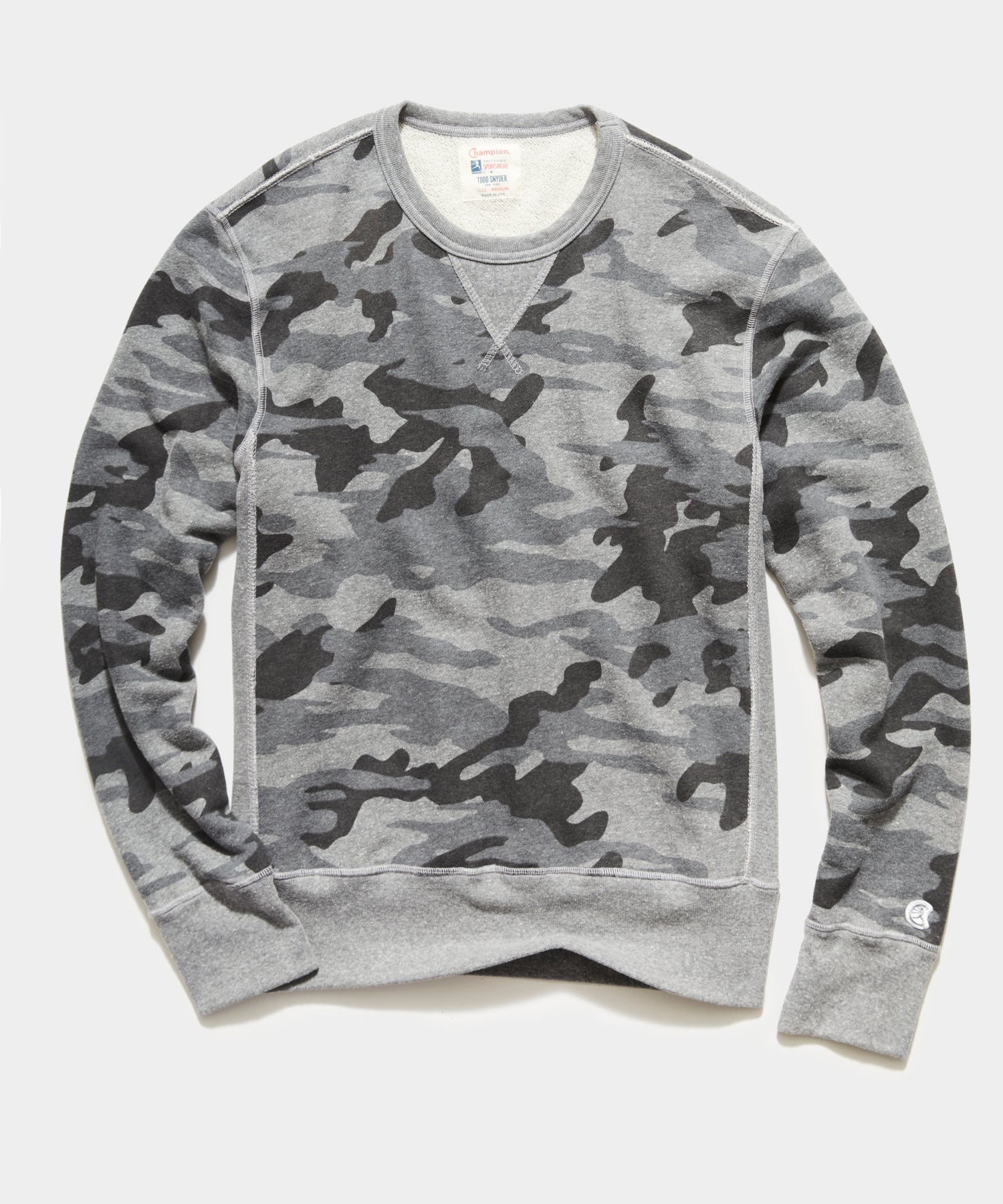 Heather Grey Camo Crewneck Sweatshirt
