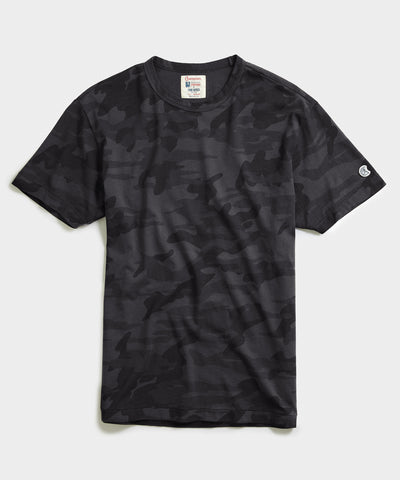 Camo Tee Shirt in Black