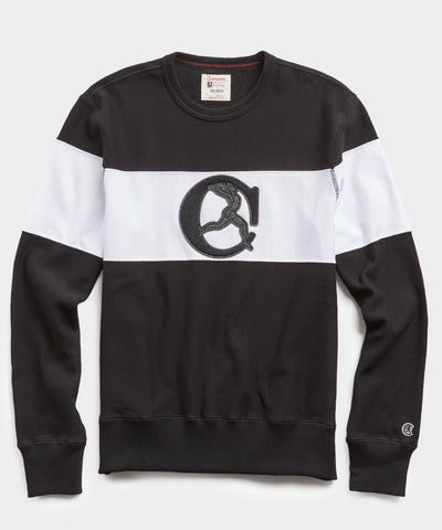 Black and White Chest Stripe Sweatshirt