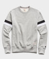 Double Stripe Raglan Sweatshirt in Grey Mix