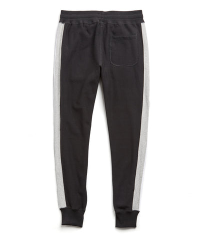 Side Stripe Slim Jogger in Black