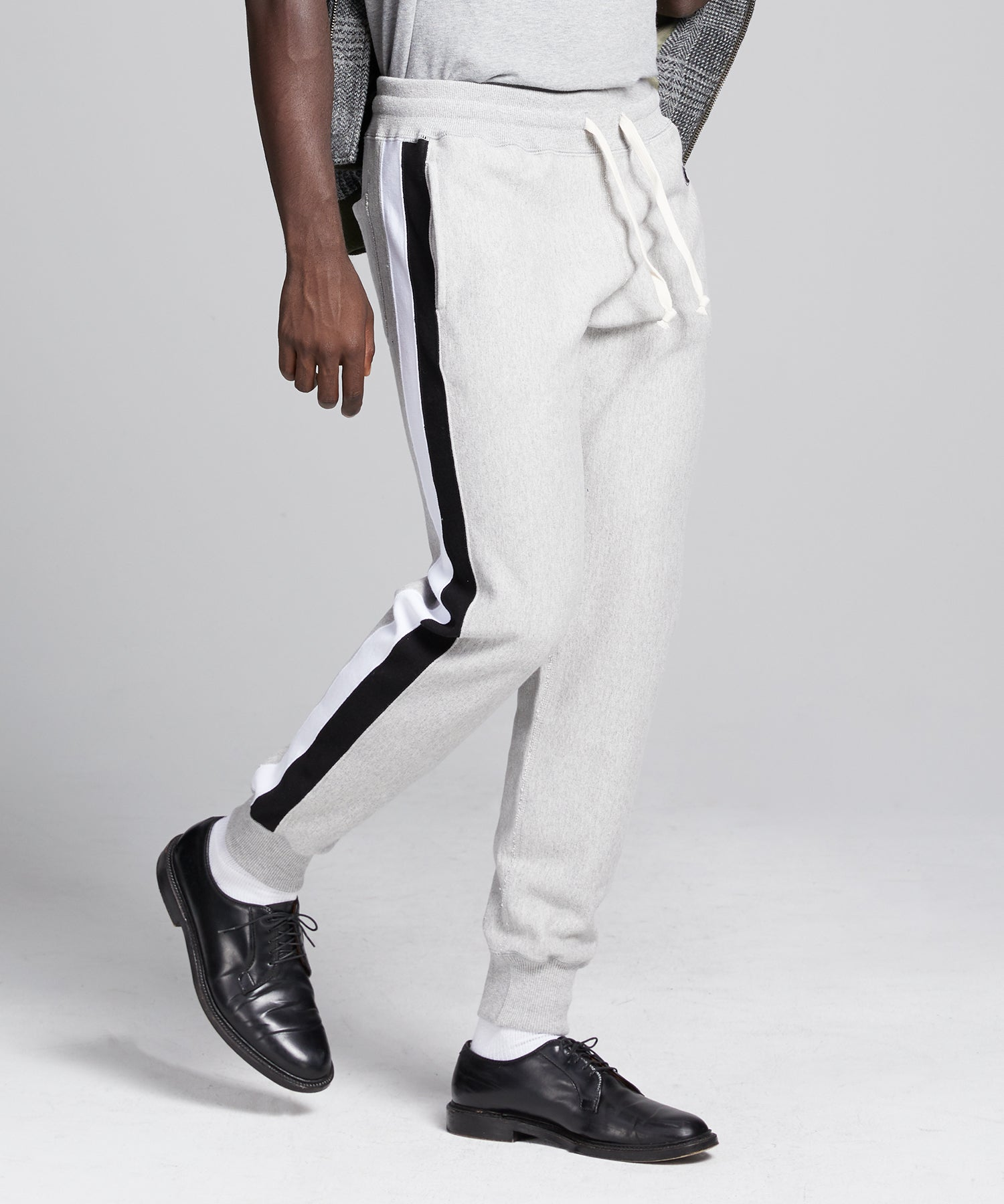 Side Stripe Slim Jogger in Grey Mix