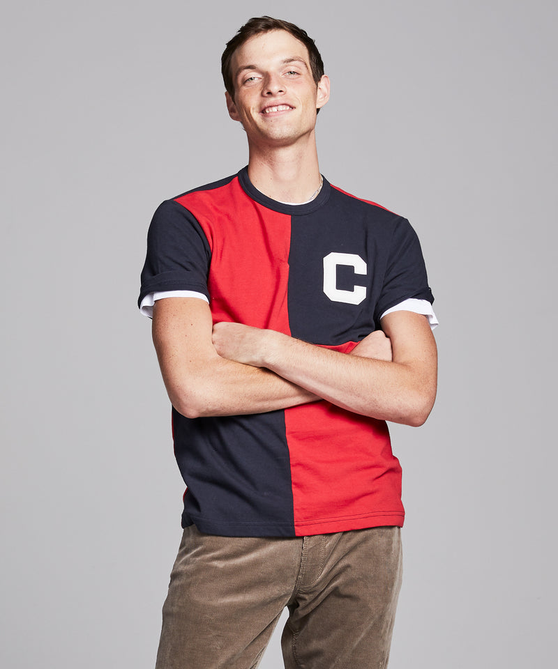 Rowing Tee in Original Navy and Red