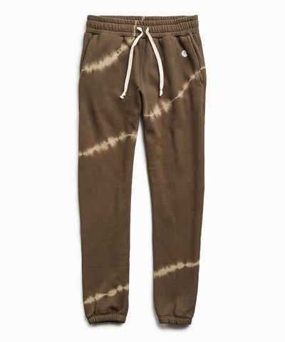 Olive Tie Dye Classic Sweatpant