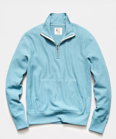Quarter Zip Sweatshirt in Bluestone