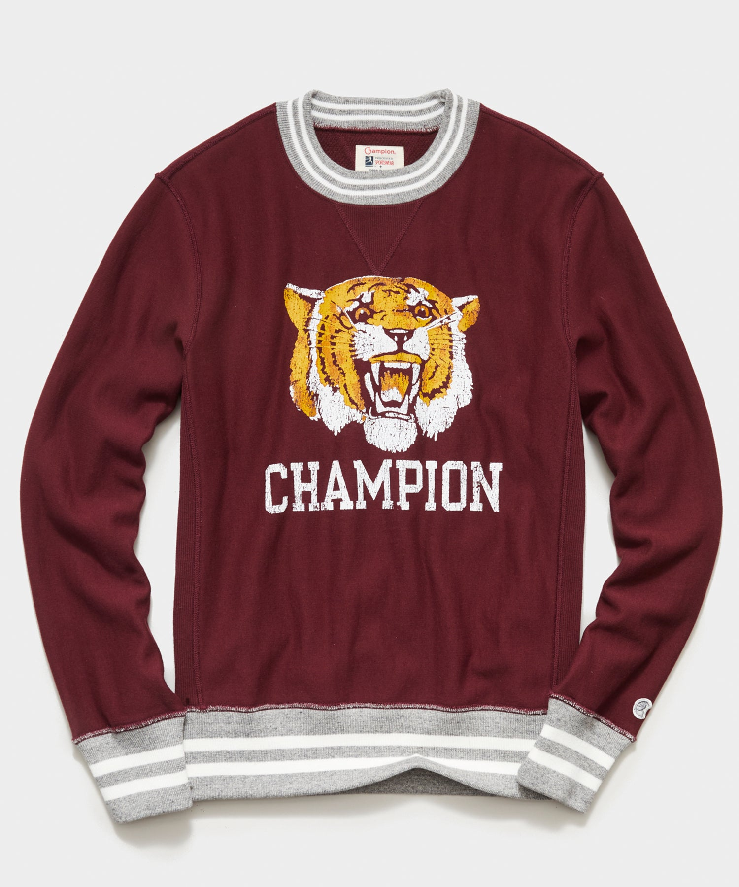 Champion Tiger Sweatshirt in Wine Stain