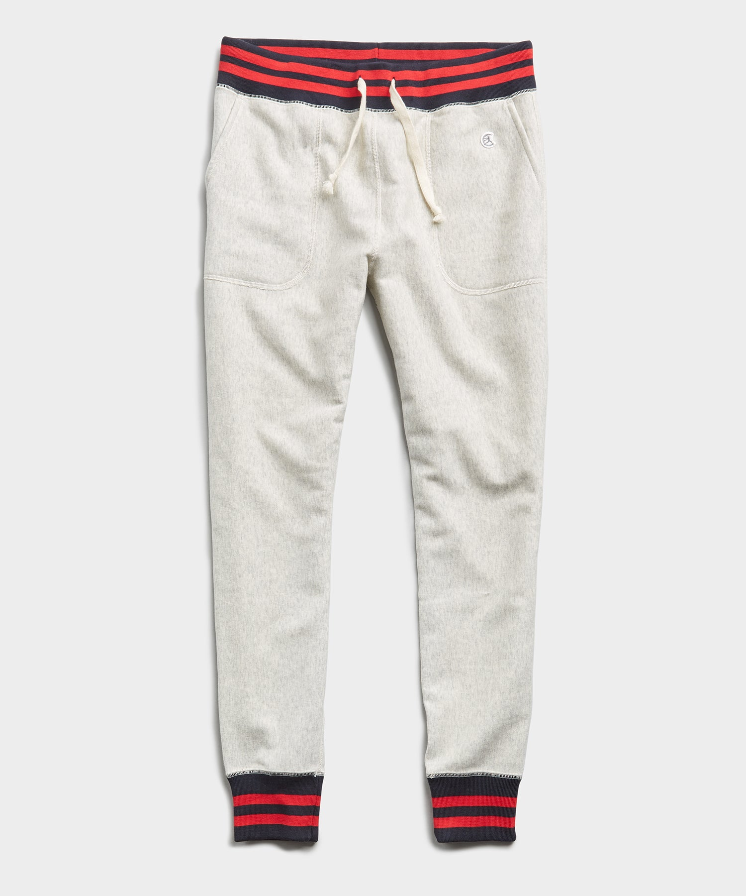 Tipped Sweatpant in Eggshell Mix