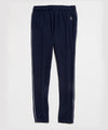 Italian Wool Herringbone Sweatpant in Navy