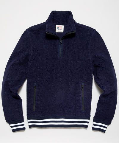 Lightweight Polartec Half Zip in Navy