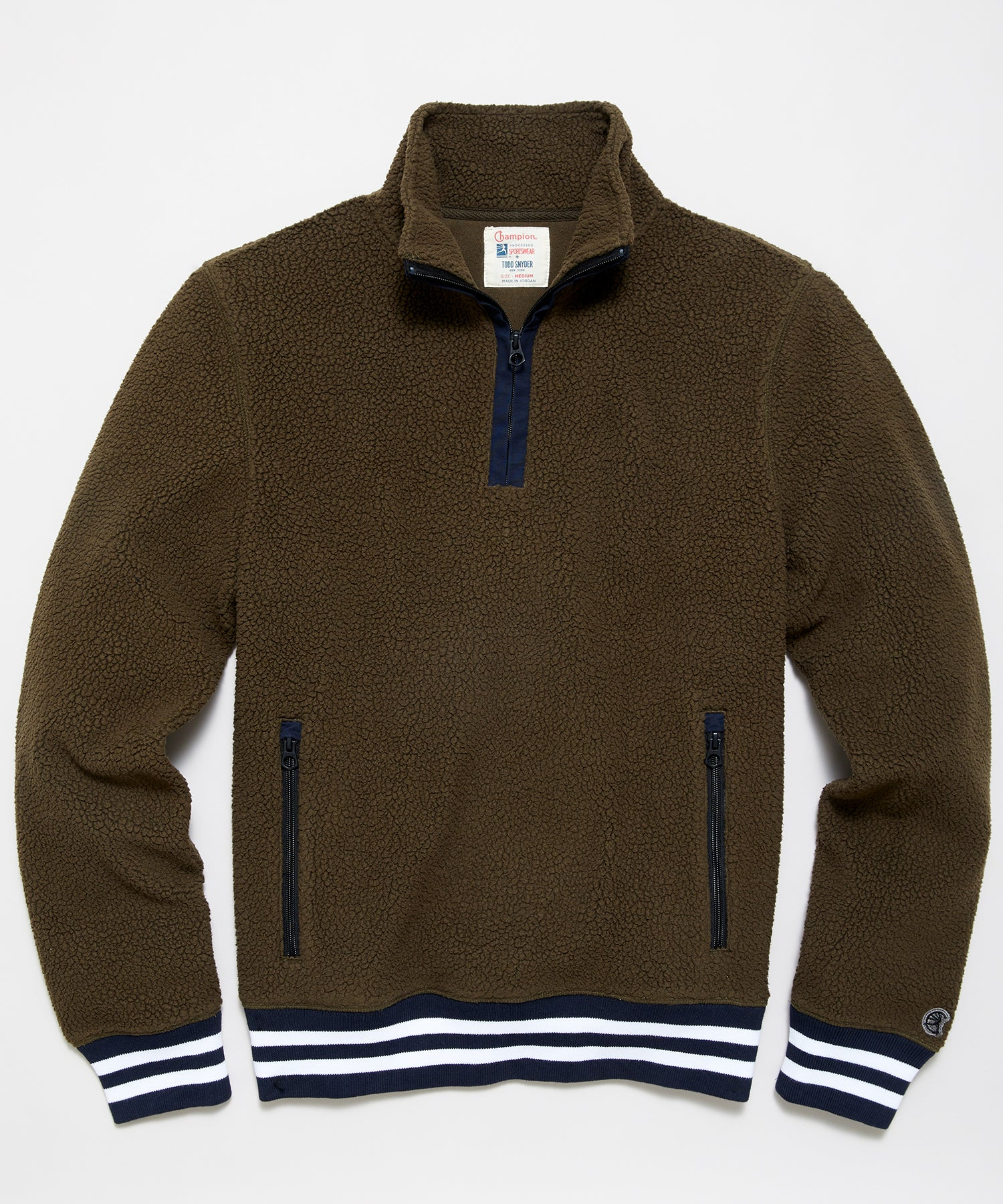 Lightweight Polartec Half Zip in Brown Umber