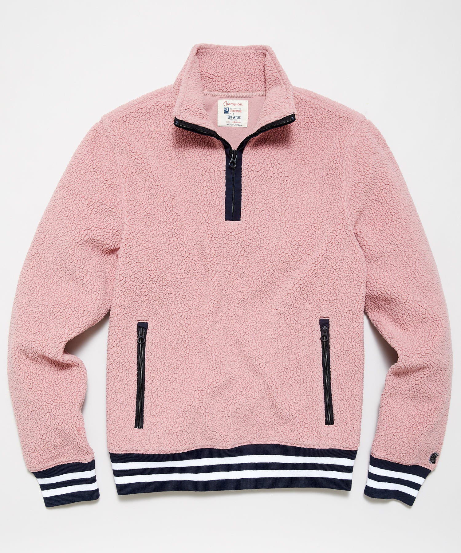 Lightweight Polartec Half Zip in Pinkwater