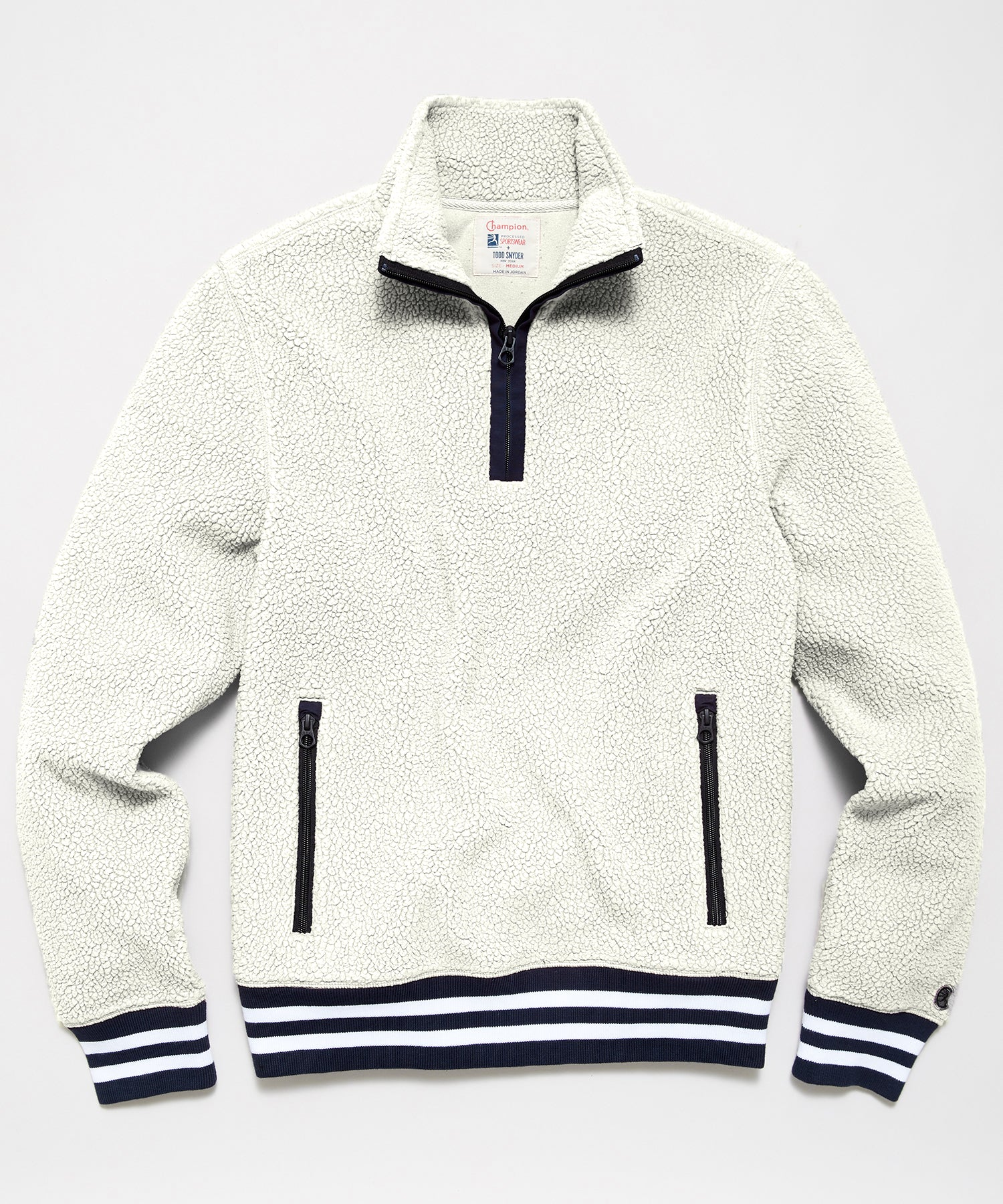 Lightweight Polartec Half Zip in Ivory