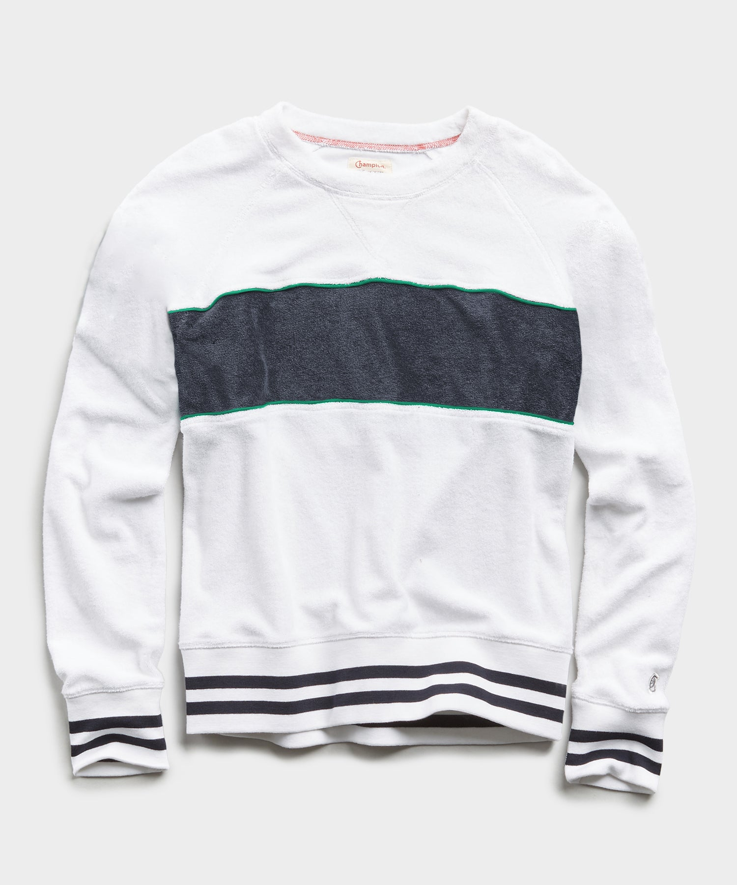Champion Terry Colorblock Sweatshirt in White