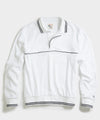 Champion Terry Long Sleeve Polo in White