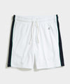 Champion Terry Side Stripe Short in White