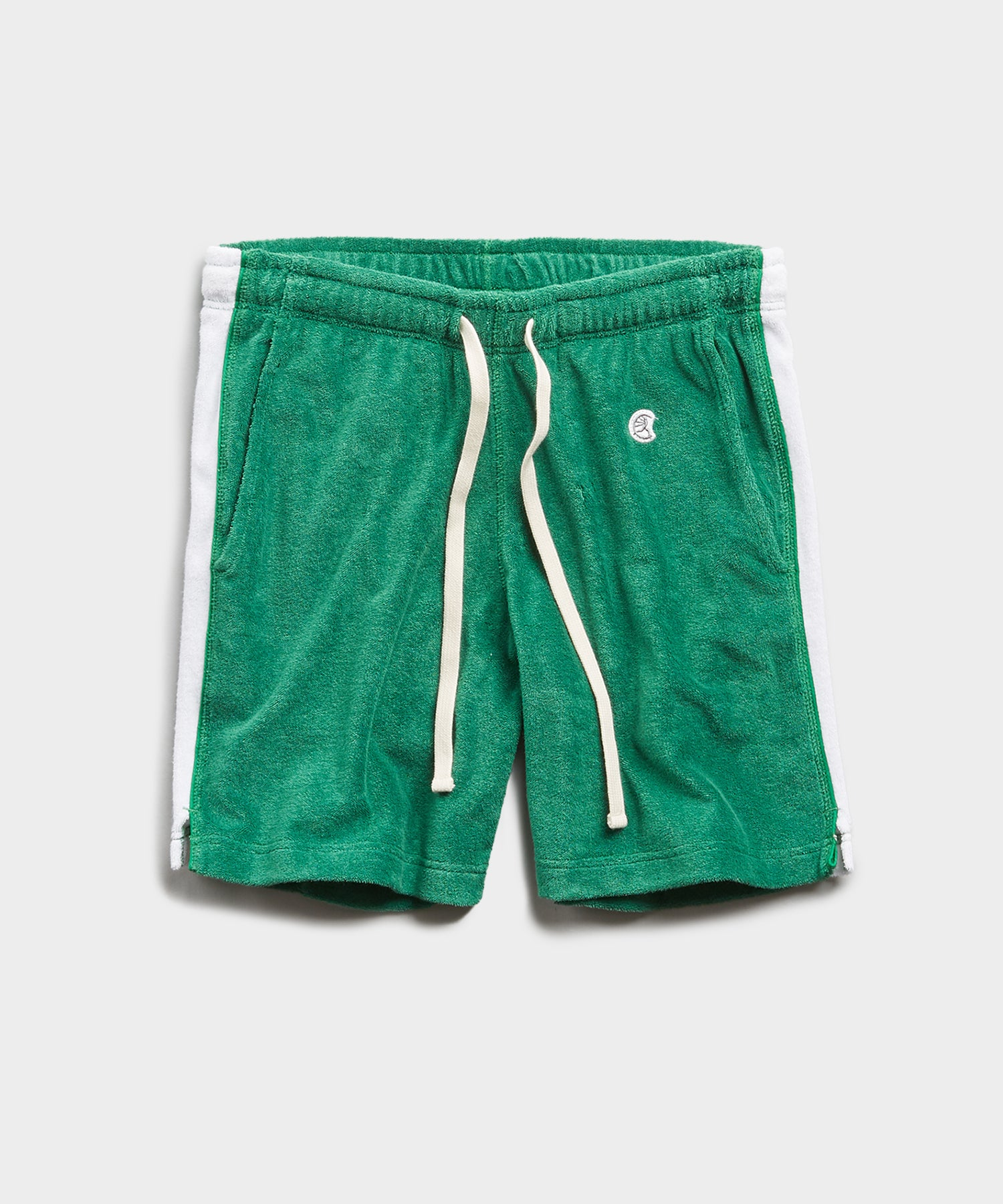 Champion Terry Side Stripe Short in Turf Green