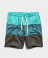 Lightweight Pieced Stripe Warm Up Short in Seafoam