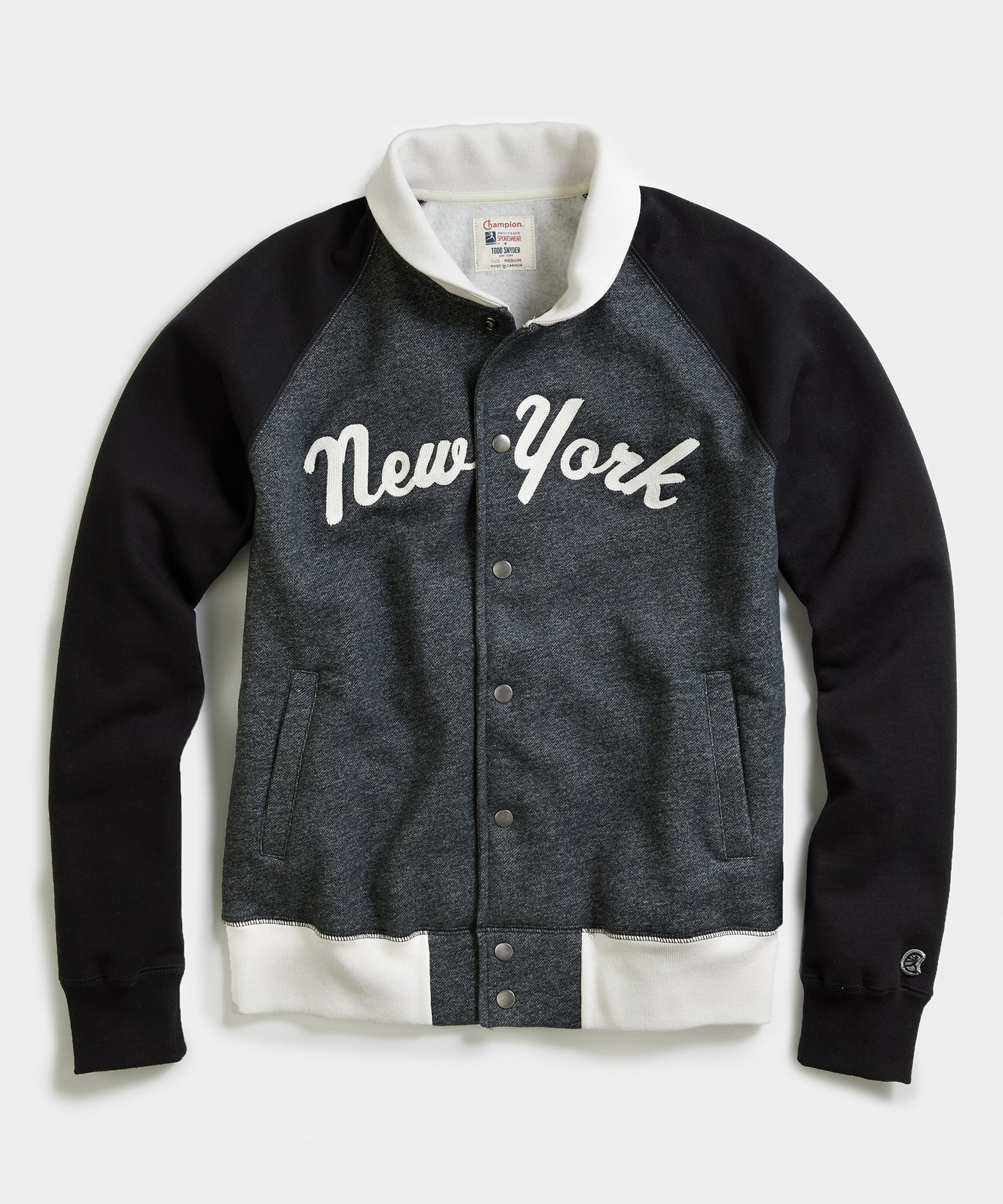 Champion New York Jacket in Dark Charcoal Pepper