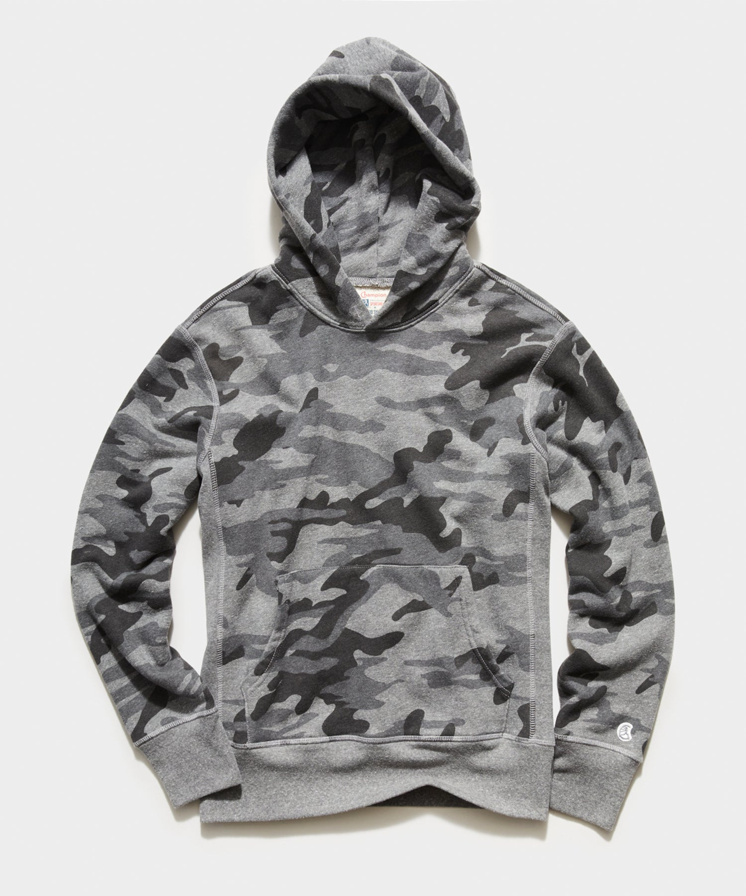 Heather Grey Camo Popover Hoodie