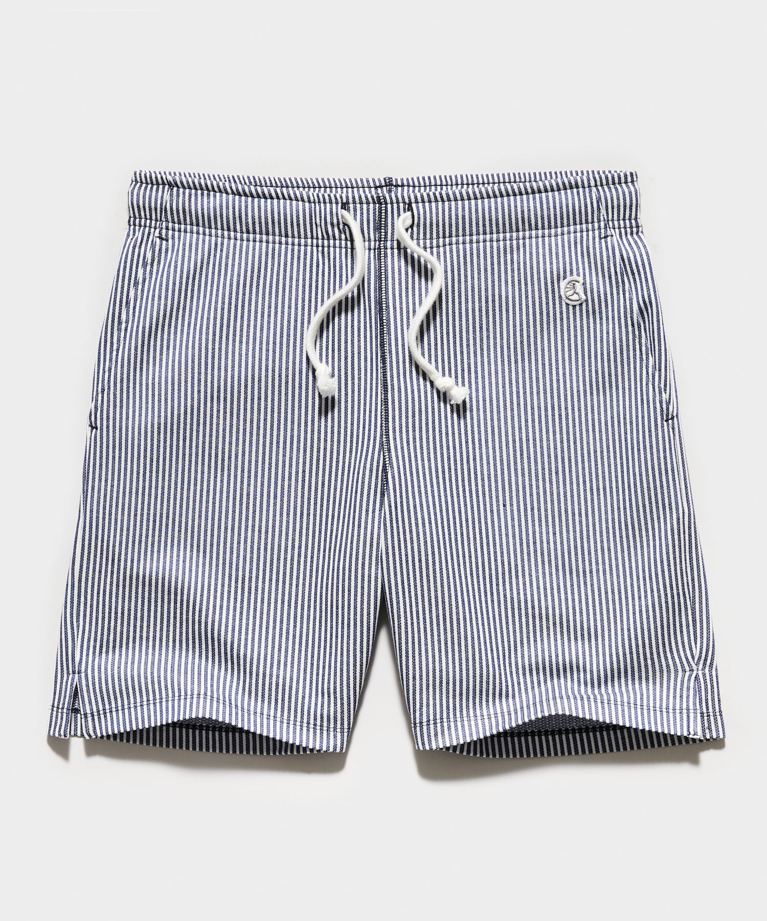 Seersucker Warm Up Short in Navy